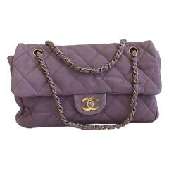Chanel Lavender Flap Purse with Gold Hardware, Size Medium