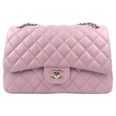 Chanel Lavender Lambskin Jumbo Classic Double Flap Bag