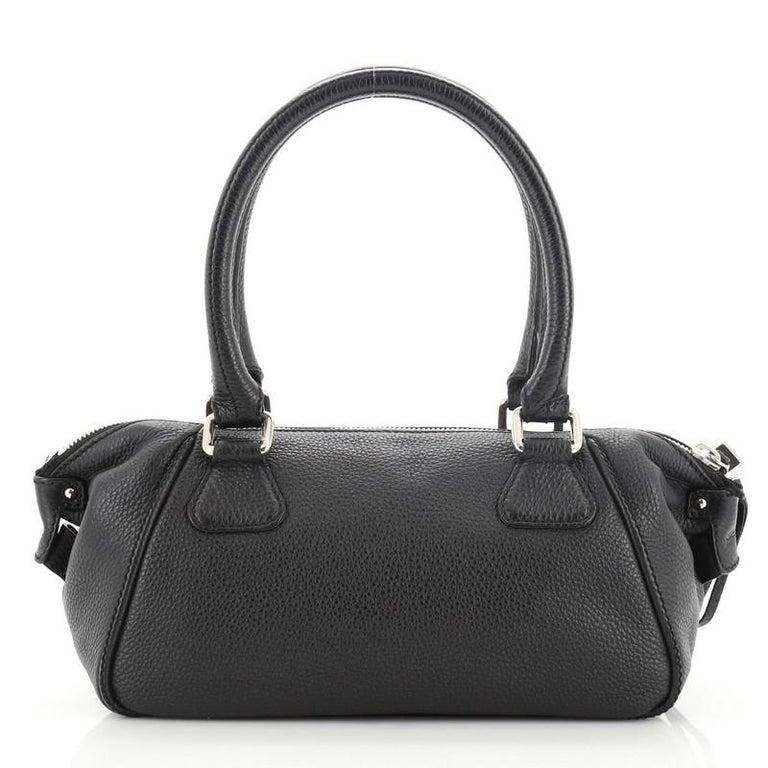 Black Chanel Lax Tassel Bag Pebbled Leather Medium