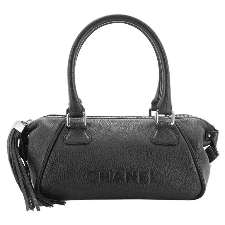 Chanel Lax Tassel Bag Pebbled Leather Medium
