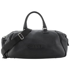 Chanel Lax Tassel Convertible Duffle Pebbled Leather Large