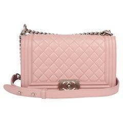 Chanel Le Boy Bag Medium - dusty pale pink