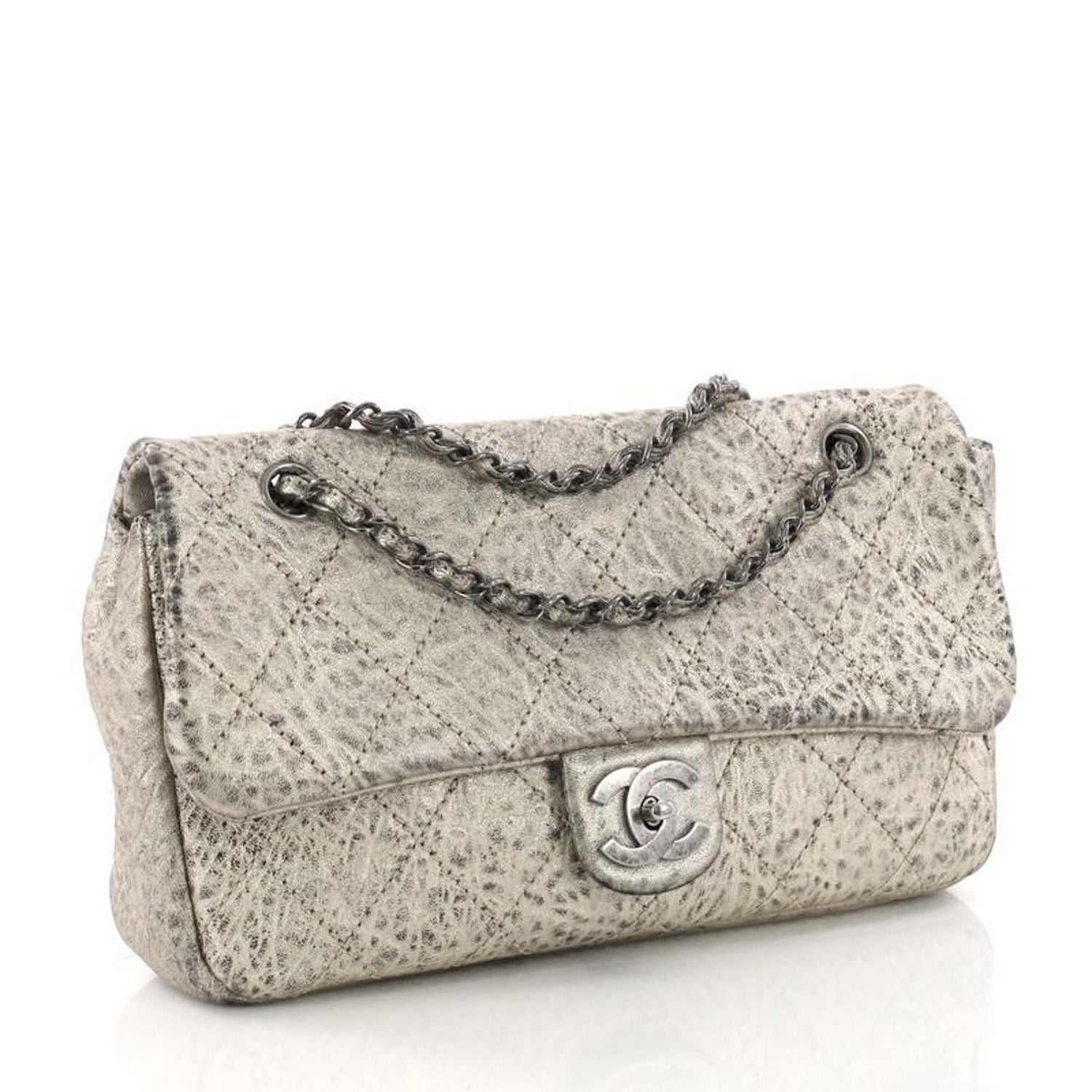 be6a5a55eadafb Chanel Le Marais Classic Flap Bag Quilted Distressed Leather Jumbo at  1stdibs