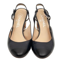CHANEL Leather Ballerinas