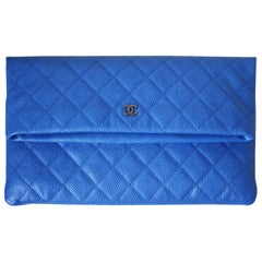 Chanel Leather Quilted Folded Pouch Bag