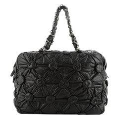 Chanel Lemarie Bowler Bag Draped Lambskin Medium