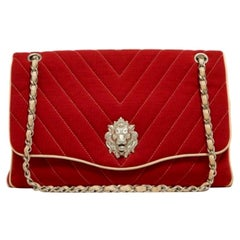 Chanel, Leo Chevron limited edition in red jersey