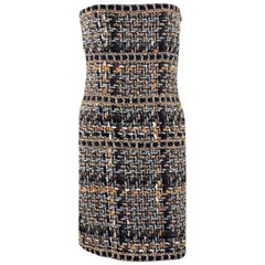 Chanel Lesage Metallic Braided Fantasy Tweed Dress