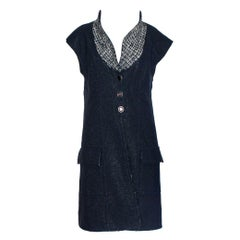 Chanel Lesage Metallic Tweed Long Gilet Vest Jacket Dress Coat