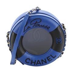 Chanel Lifesaver Round Crossbody Bag Lambskin Small