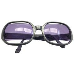 Chanel Light Blue Sunglasses with Purple Lenses