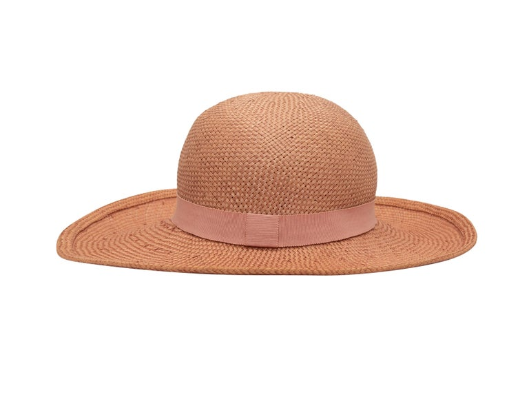 Orange Chanel Light Pink Straw Hat