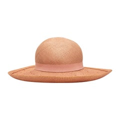 Chanel Light Pink Straw Hat