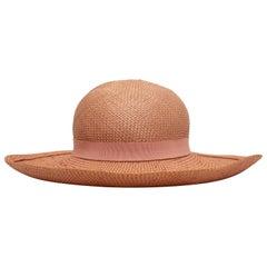 Chanel Light Pink Straw Hat