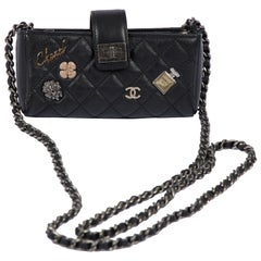 Chanel Limited Edition Black Charms Reissue Wallet On A Chain Bag