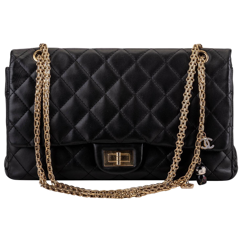 Chanel Limited Edition Black Shanghai Jumbo 2.55 Reissue Bag