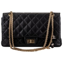 Chanel Limited Edition Black Shanghai Jumbo 2.55 Reissue Bag