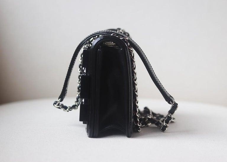 Black Chanel Limited Edition Boy Brick Crystal and Plexi Crossbody Bag For Sale