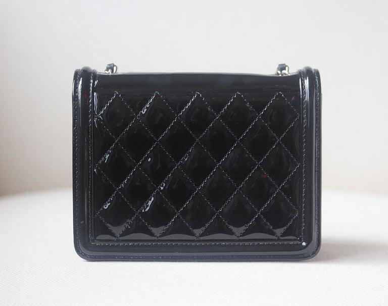 Women's Chanel Limited Edition Boy Brick Crystal and Plexi Crossbody Bag For Sale
