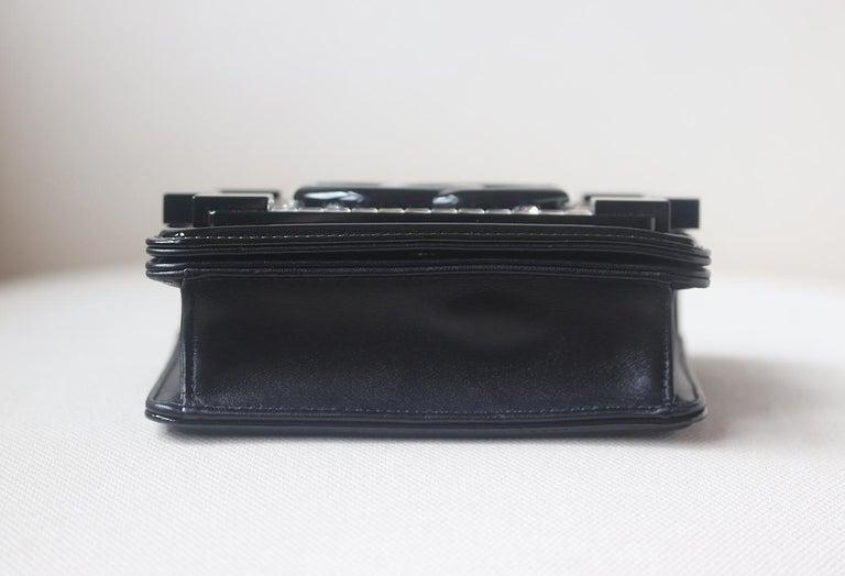 Chanel Limited Edition Boy Brick Crystal and Plexi Crossbody Bag For Sale 1