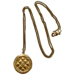 Chanel Limited Edition Brasserie Gabrielle Collection Quilted Pendant Necklace