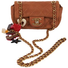 Chanel Limited Edition Camel Charm Mini Crossbody Bag
