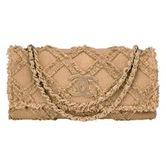 Chanel Limited Edition Crochet Nature Tweed Extra Large Flap Bag