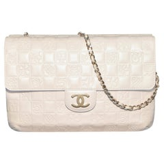 Chanel Limited Edition Embossed Logo Two Sided Flap Bag