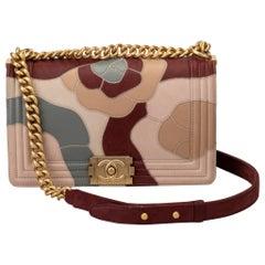 Chanel Limited Edition Patchwork Camelia Boy Bag