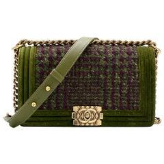 61af510a8376 Chanel Limited Edition quilted-tweed & velvet trim Boy Bag
