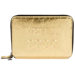 Chanel Limited Edition Votez Coco Gold Clutch