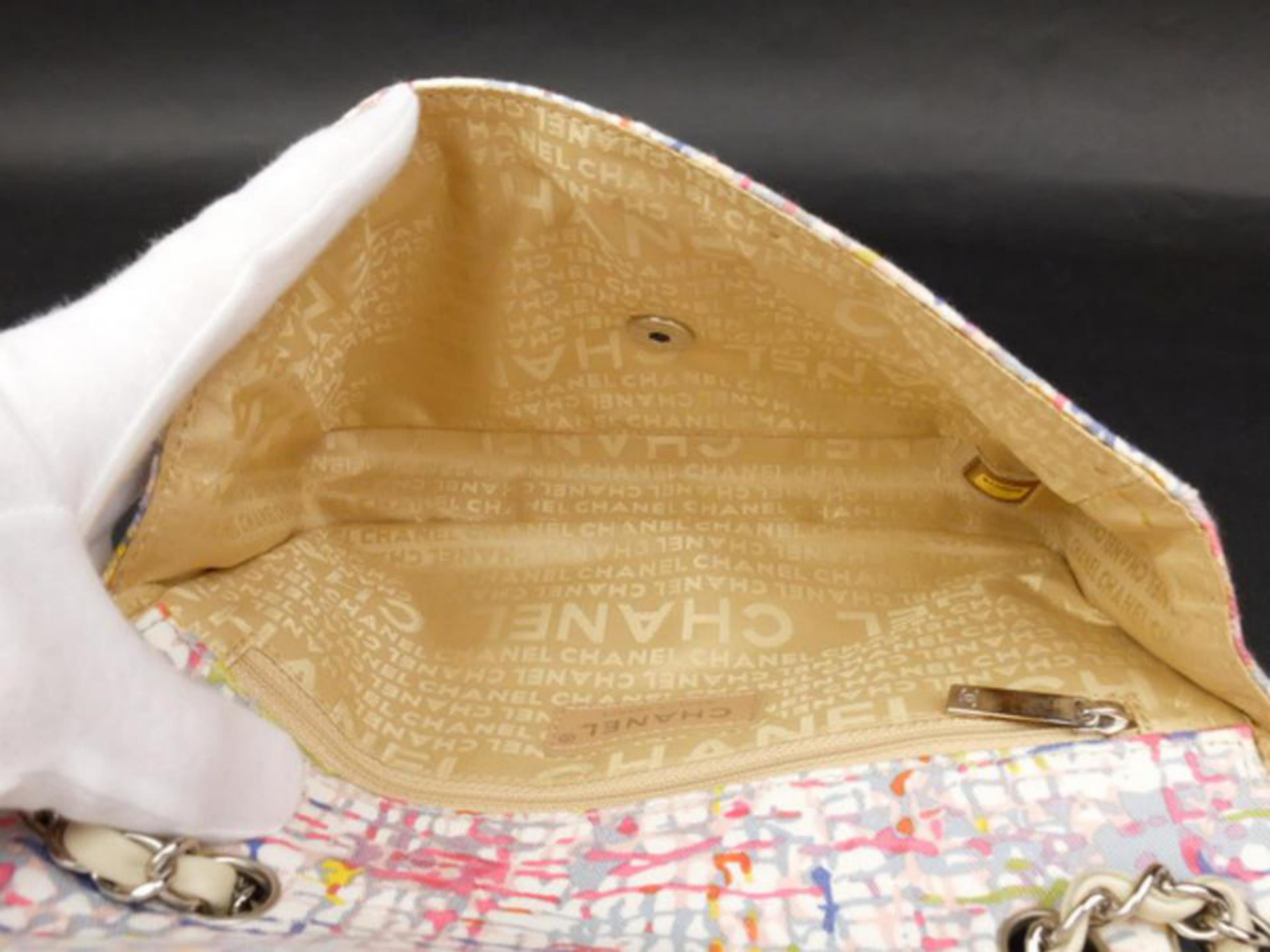 63211d56ebaa Chanel Limited Edition Watercolor Clover Charm Flap 226033 Shoulder Bag at  1stdibs