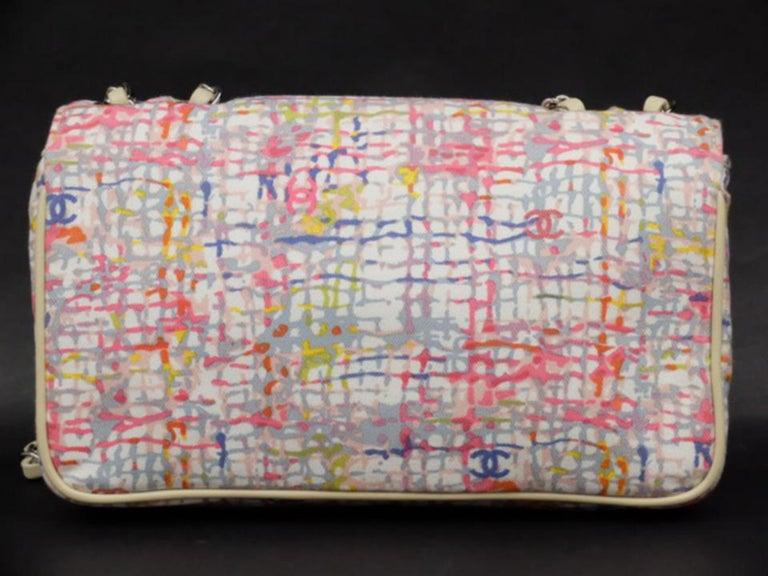 5d36c61c3d53 Chanel Limited Edition Watercolor Clover Charm Flap 226033 Shoulder Bag For  Sale 3