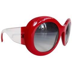 Chanel Lipstick Red Crystal Dream Sunglasses