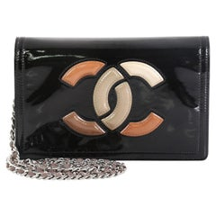 Chanel Lipstick Wallet on Chain Patent