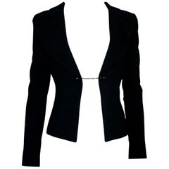 Chanel Little Black Jacket Tuxedo-Style Evening Jacket Blazer with Chain Detail