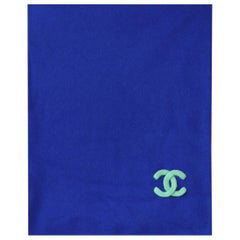Chanel Logo-Embroidered Cashmere Scarf