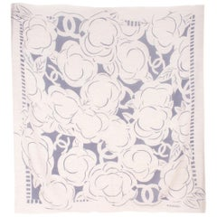 Chanel Logo-Print Cashmere and Silk-Blend Scarf