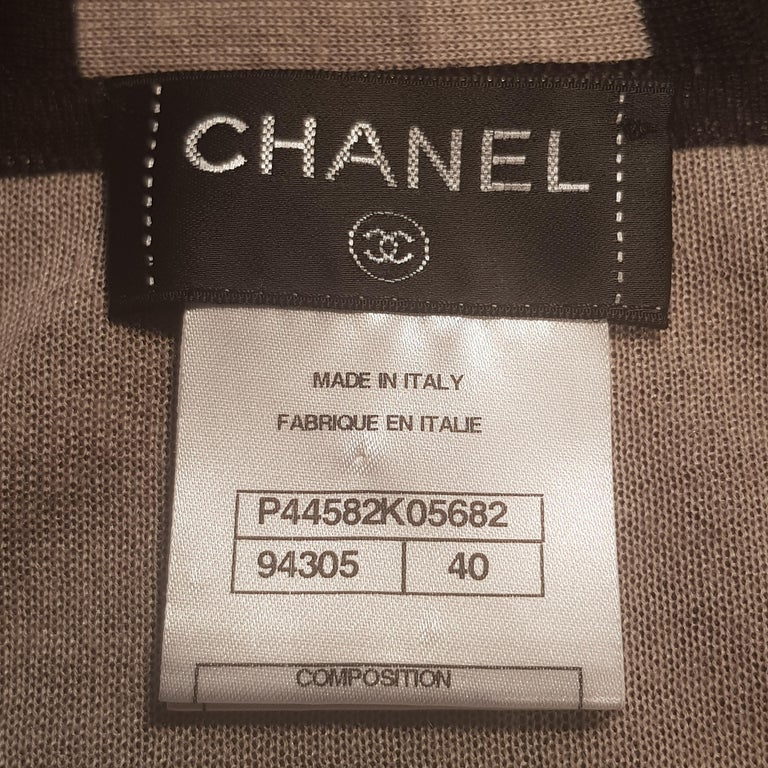 Chanel Long Black Hooded Lounge Top In Excellent Condition For Sale In London, GB