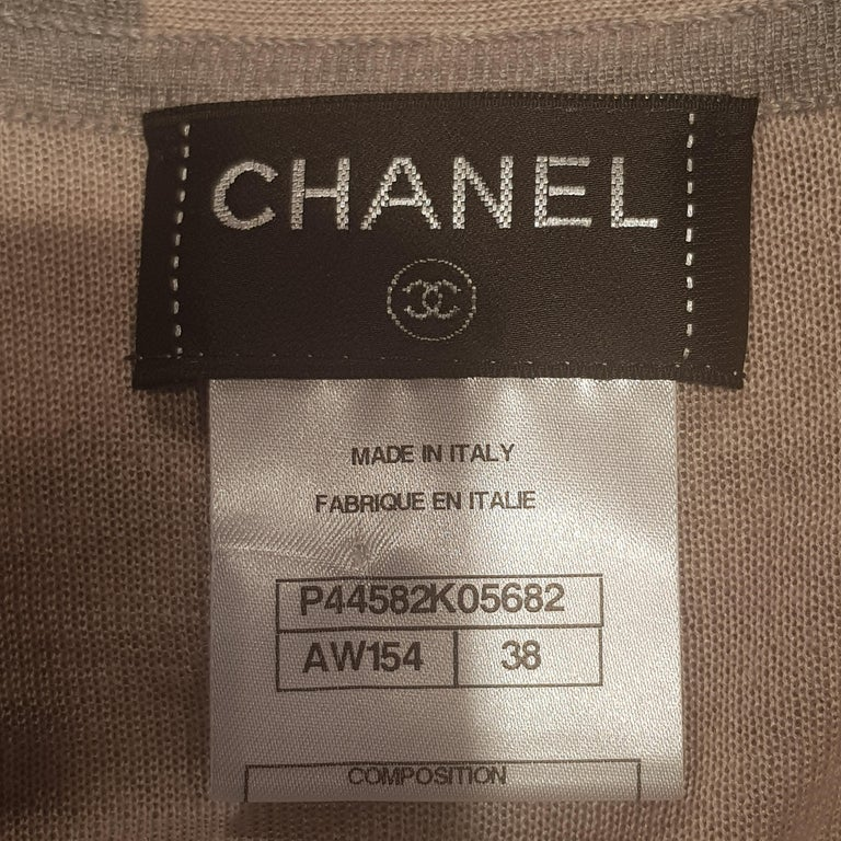 Gray Chanel Long Grey Hooded Lounge Top For Sale