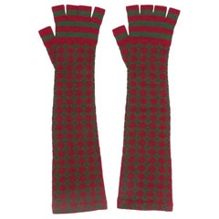 Chanel Long Knitted Fingerless Gloves