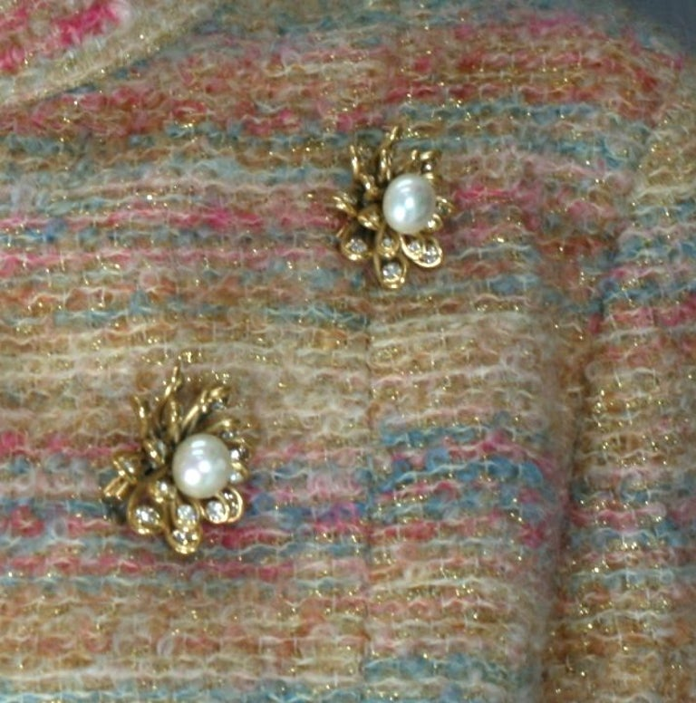 Chanel Looped Flower Jabot Brooch: Workshop  Maison Goossens In Excellent Condition For Sale In Riverdale, NY