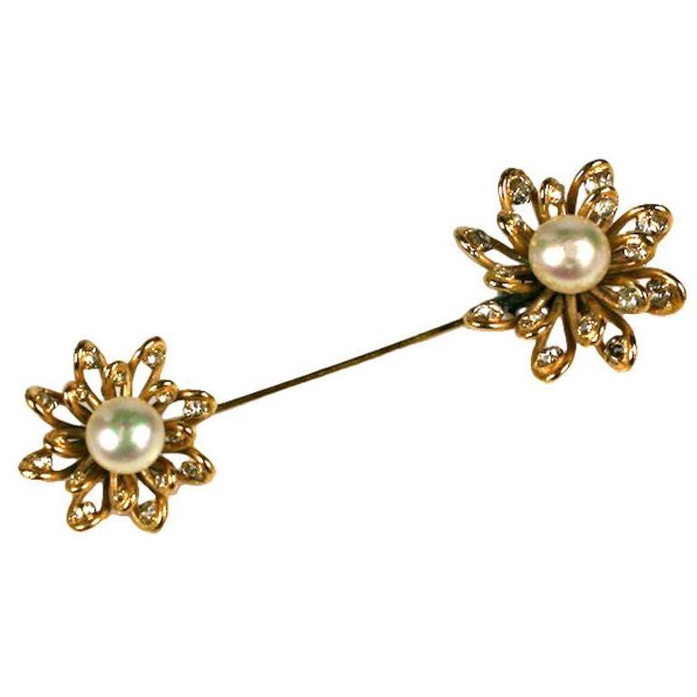Chanel Looped Flower Jabot Brooch: Workshop  Maison Goossens For Sale