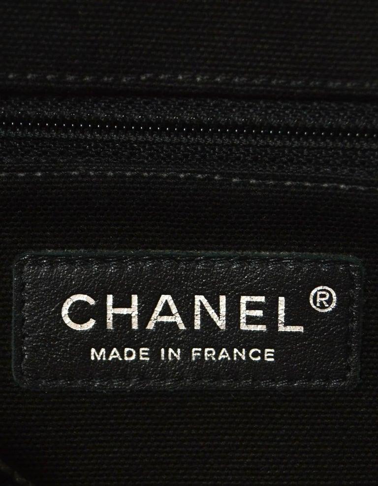 Chanel Ltd Edition Black Mesh & Patent La Madrague 2 in 1 Tote/ Classic Flap Bag For Sale 9