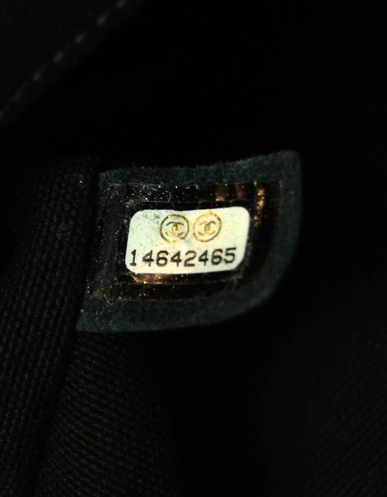 Chanel Ltd Edition Black Mesh & Patent La Madrague 2 in 1 Tote/ Classic Flap Bag For Sale 10