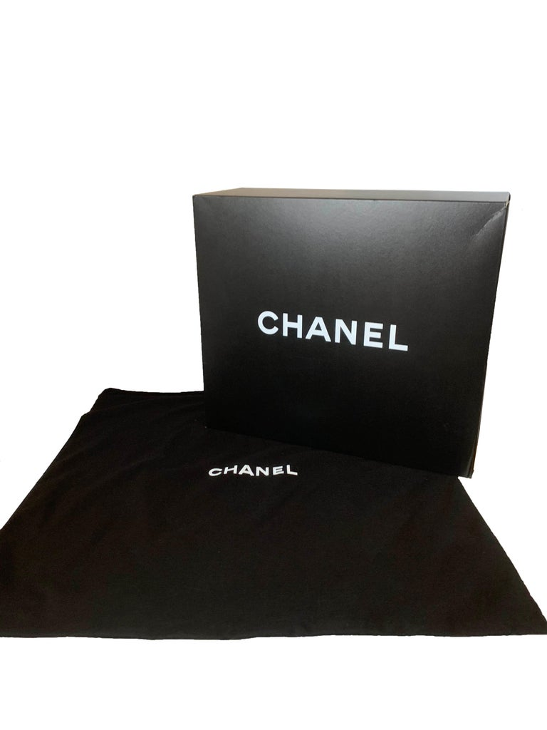 Chanel Ltd Edition Black Mesh & Patent La Madrague 2 in 1 Tote/ Classic Flap Bag For Sale 11