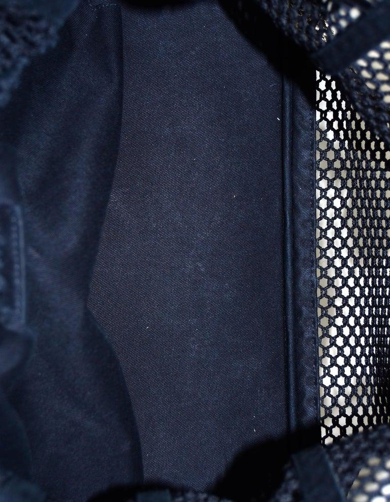 Chanel Ltd Edition Black Mesh & Patent La Madrague 2 in 1 Tote/ Classic Flap Bag For Sale 3