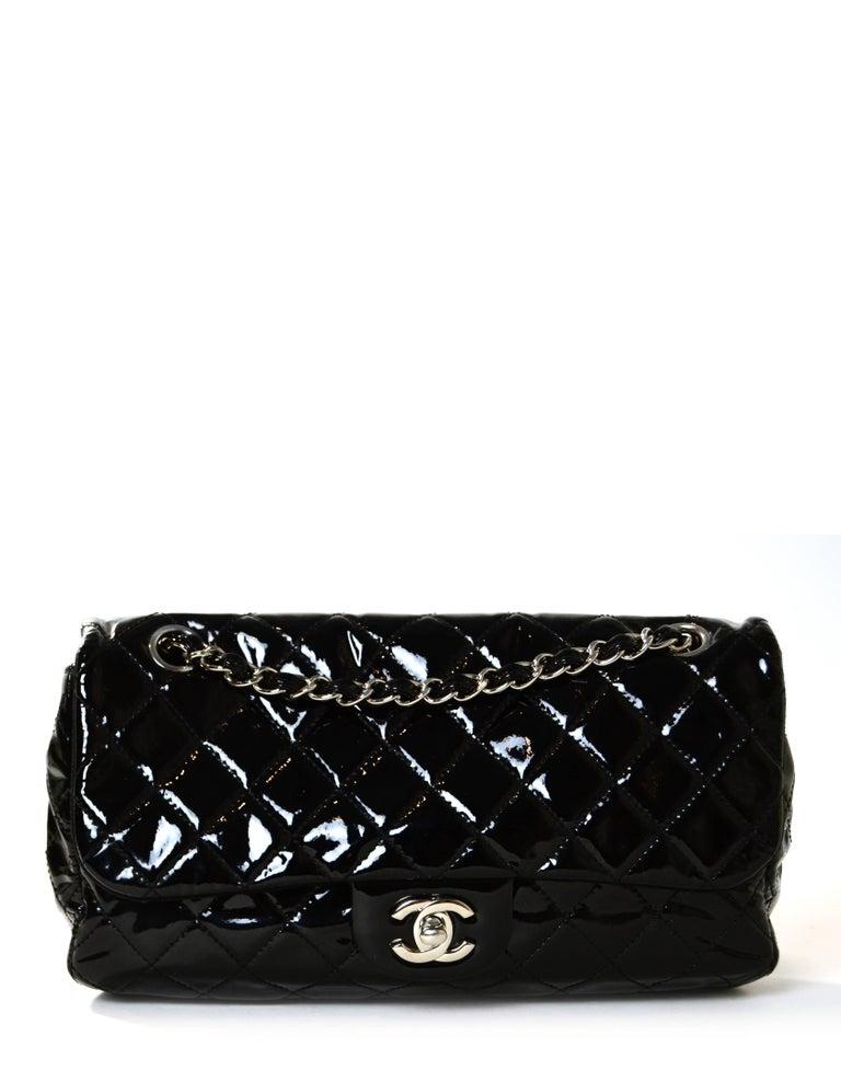 Chanel Ltd Edition Black Mesh & Patent La Madrague 2 in 1 Tote/ Classic Flap Bag For Sale 4