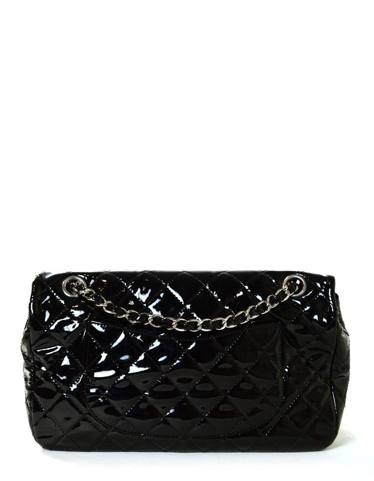 Chanel Ltd Edition Black Mesh & Patent La Madrague 2 in 1 Tote/ Classic Flap Bag For Sale 5