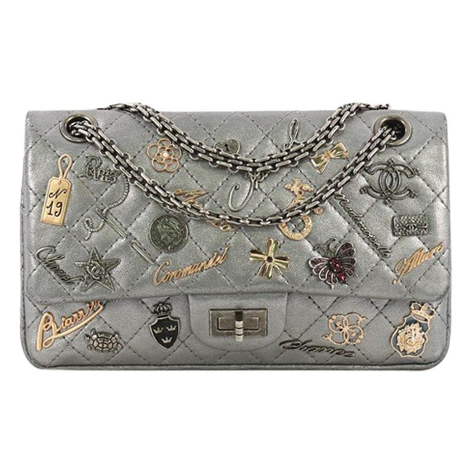 a71b016769 Chanel Lucky Charms Reissue 2.55 Flap Bag Quilted Aged Calfskin 225
